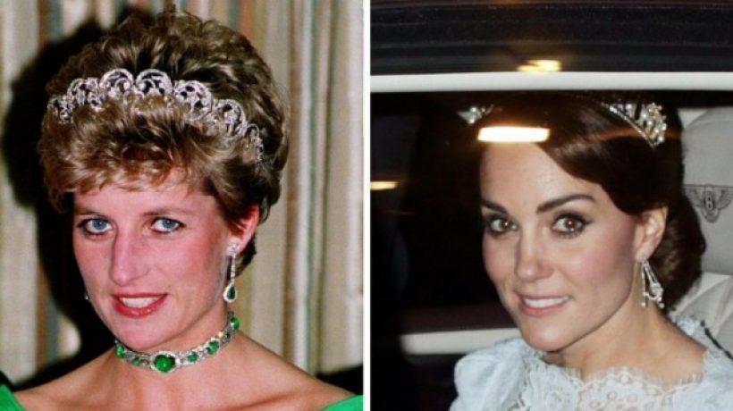 Kate Middleton wears the tiara of Lady Diana