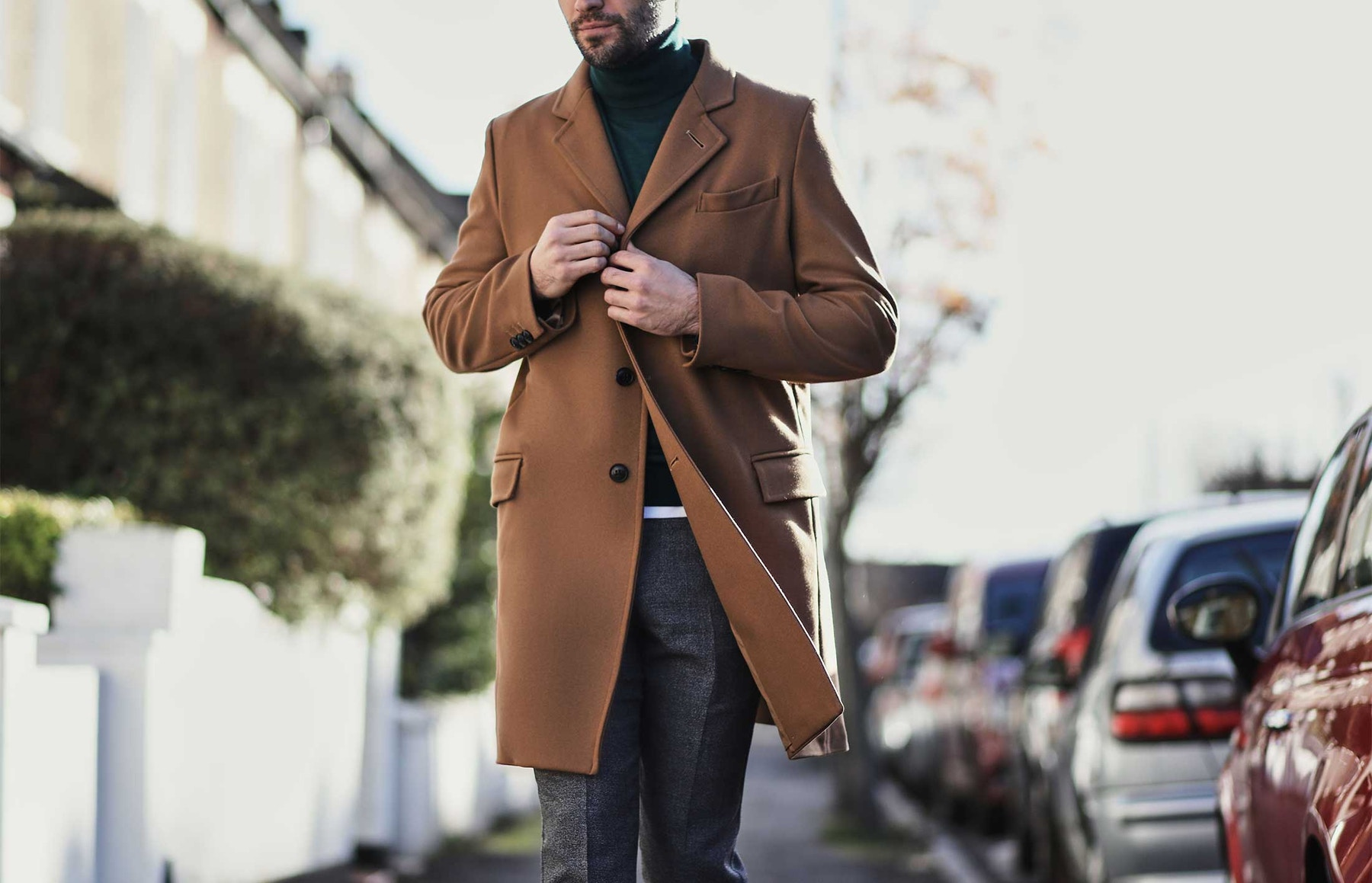 how to wear a coat
