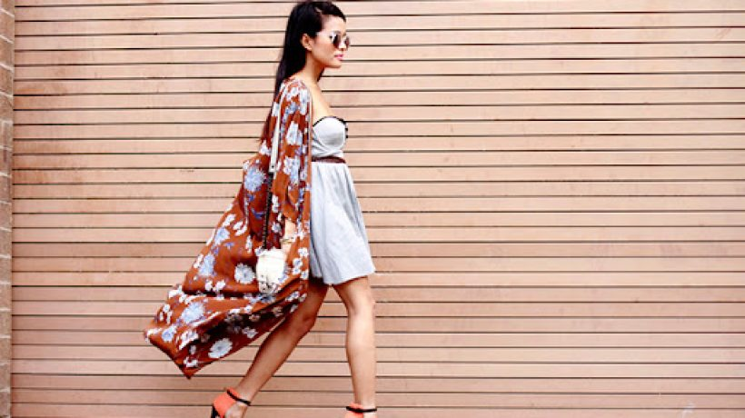 How to wear kimonos in summer?