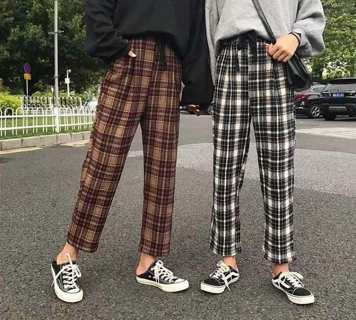 what to wear with checkered pants