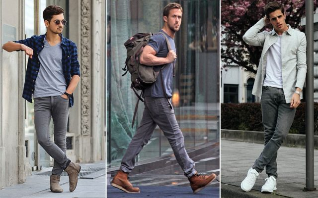 What color shoes to wear with dark grey pants