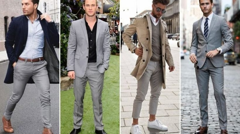 What color shoes to wear with dark grey pants?