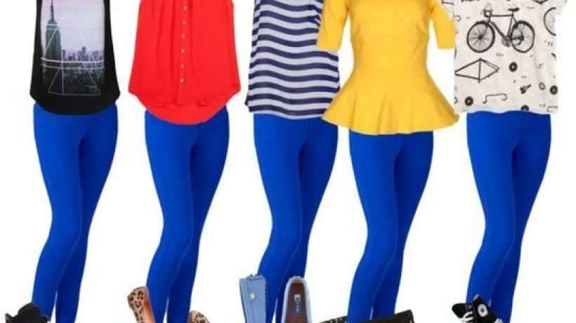 What to wear with blue leggings?